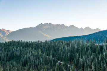 view of mt Shuksan,scenic view in Mt. Baker Snoqualmie National,WA,usa.