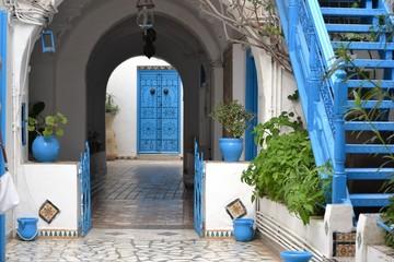 Typowe drzwi i architektura  w Tunezji ,Afryka