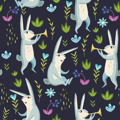 Forest. seamless pattern