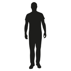 Man standing silhouette