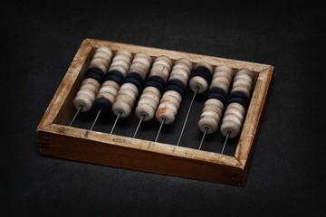 true vintage wooden abacus