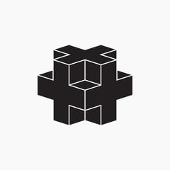 Geometric element, vector illustration, cross