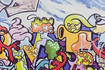 Détail graffiti couleur