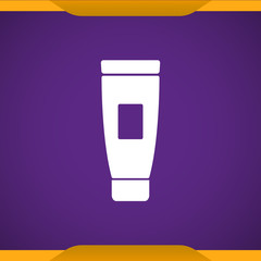 Cream tube icon for web and mobile
