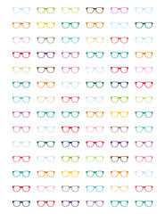 84 Colorful Pretty glasses with for planners,agendas,notebooks.For work and school and fun.All in pretty colors.Printable.Totally editable.
