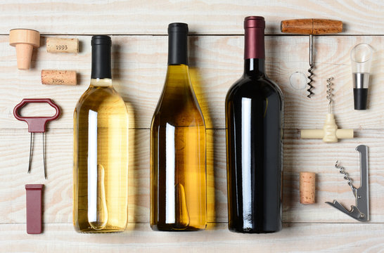Wine Bottles With Accessories