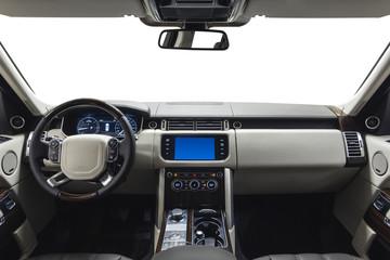 Car dashboard & steering wheel