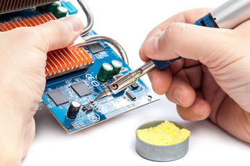 Gas Powered Soldering and electronic board