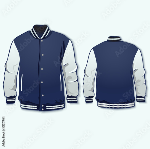 varsity sports jacket template vector stock image and royalty