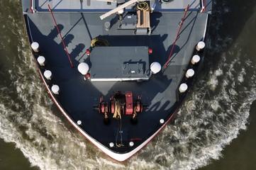 Bug eines Tankschiffs