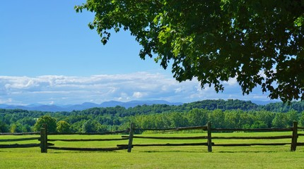 Scenic view of rural Vermont country landscape Wall mural