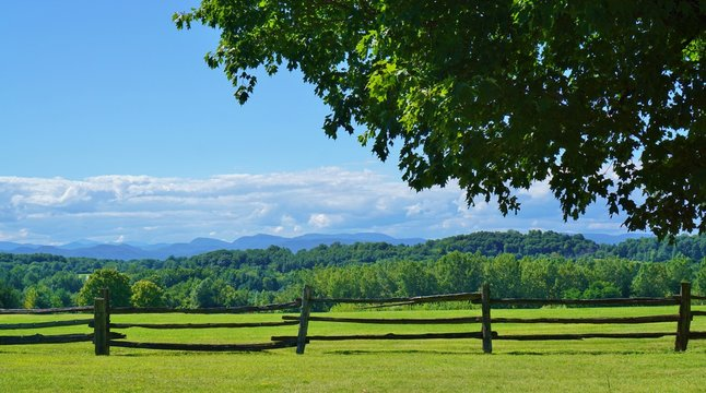 Scenic view of rural Vermont country landscape