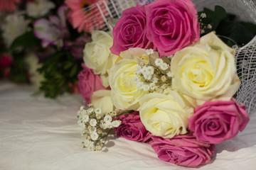 flowers, roses, gerbera