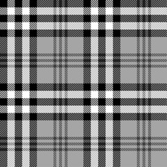Seamless black and white tartan pattern