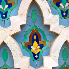 line in morocco africa old tile and colorated floor ceramic abst