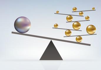 équilibre - Boules - audace - incroyable - faluleux