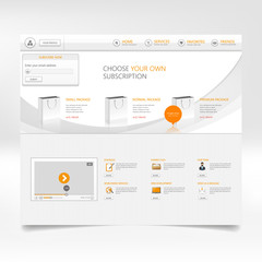 Website template design vector.