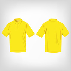Yellow polo shirt isolated vector
