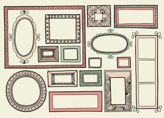 Vector illustration with a set of frames