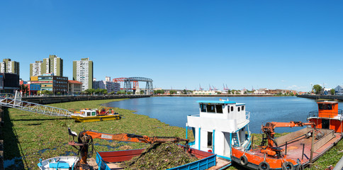 La Boca, panorama over the river, Buenos Aires Argentine