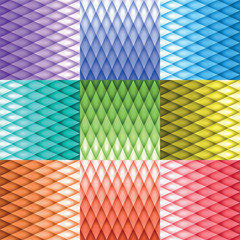 Retro background, pattern rhombs, mesh gradient, transition from light to dark, color version