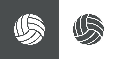 Icono plano pelota voleibol #1