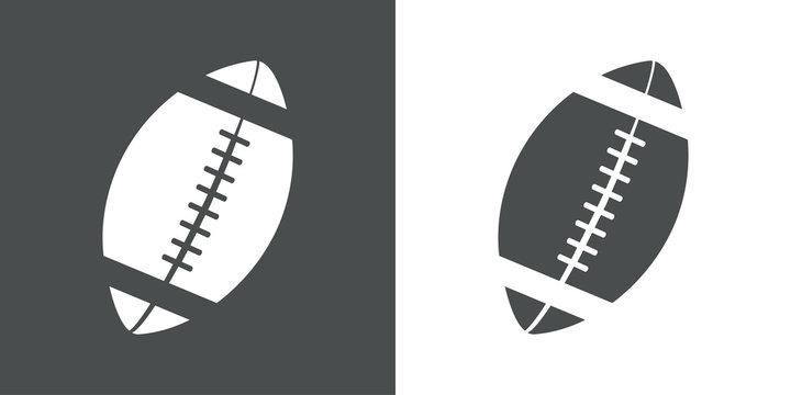 Icono plano balon rugby #1