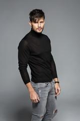 Fashion male model posing