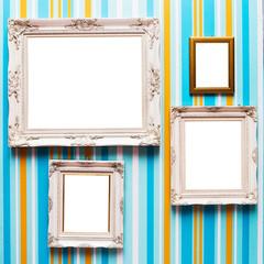 White frame.