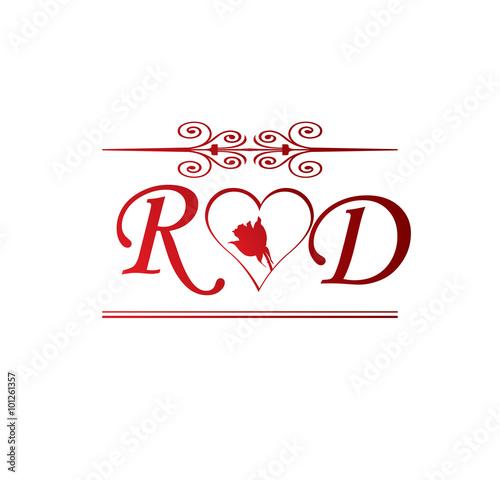 �^��r��'�n�_RDloveinitialwithredheartandroseStockimageandroyalty-freevectorfileson