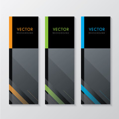 a set of corporate banners