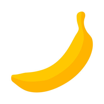 Yellow banana / cooking plantain fruit flat icon for food apps and websites