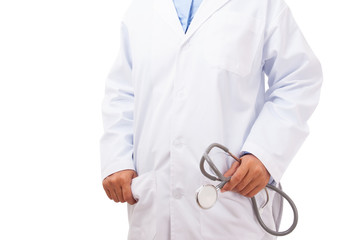 Doctor with a stethoscope. Medical concept.