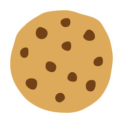 Chocolate chip cookie icon for food apps and websites