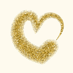 Glitter heart for Valentines Day