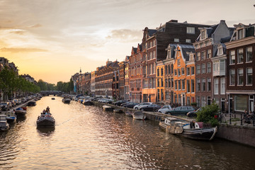 Deurstickers Amsterdam Prinsengracht Amsterdam Canal