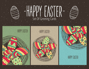 Set of Easter greeting cards