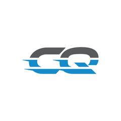 Simple Modern Dynamic Letter Initial Logo cq