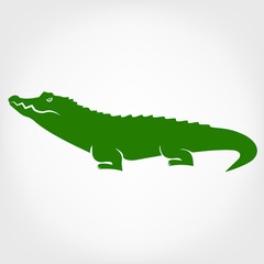 Vector image of an crocodile