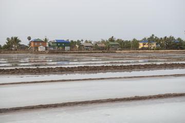 Salinas en la región de Kampot, Camboya.
