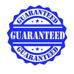 Blue rubber stamp Guaranteed vector