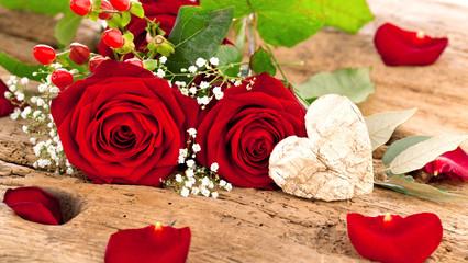 Blumen mit schildschen (Valentinstag)