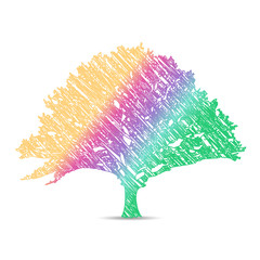 color tree logo on white background