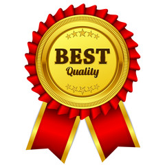 Best Quality Red Seal Vector Icon