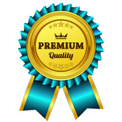 Premium Quality Blue Seal Vector Icon