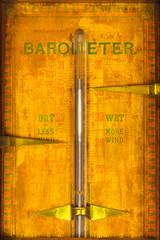Close up of a vintage barometer