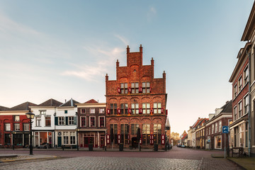 Ancient houses in the historic Dutch city of Doesburg