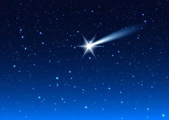 Night sky. Star drops in night sky make wish