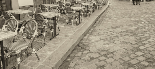 Black and white view of Paris - France