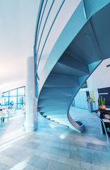 Modern staircase. Office business concept